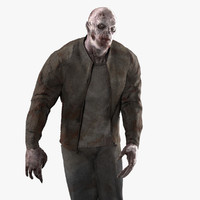rigged zombie 3d 3ds