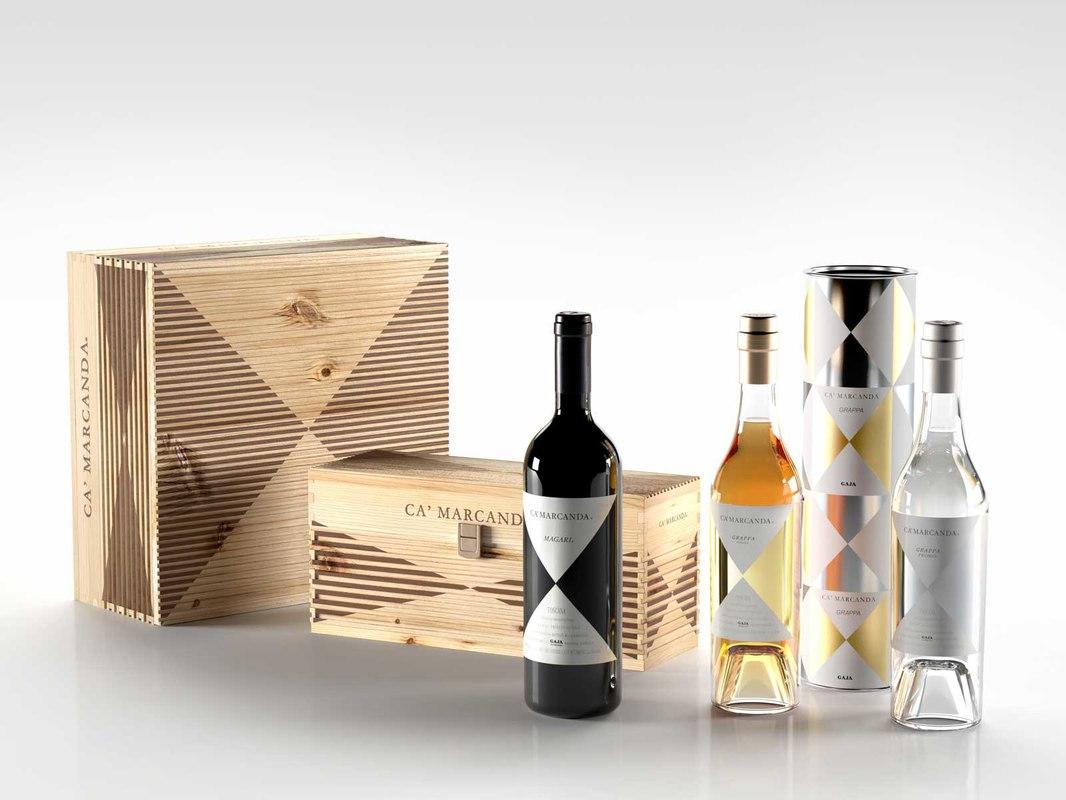 3d model ca marcanda wine boxes
