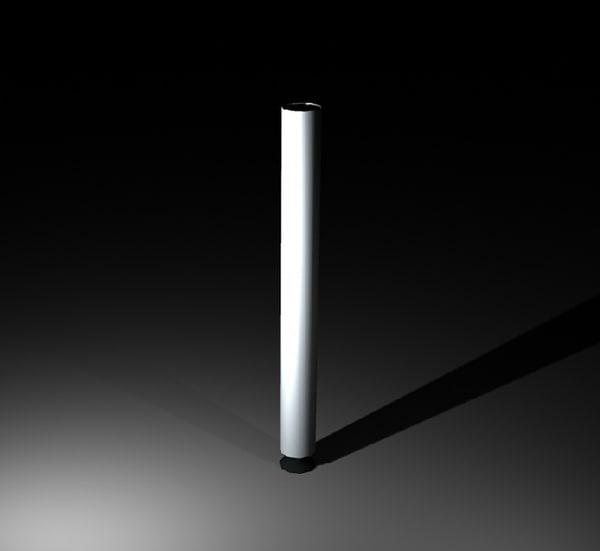 singular desk leg 3d model