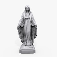 x virgin mary statue