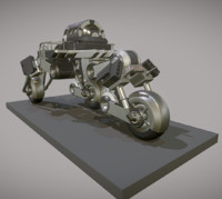 3d model futuristic trike version 2