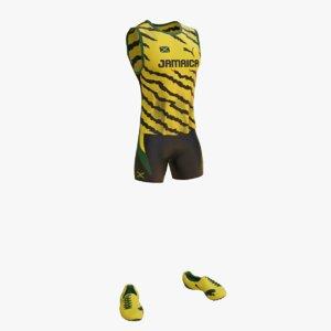 3d athletics clothes model