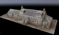 photogrammetry derelict house scotland 3d obj