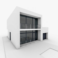 Minimal Modern House With Garage