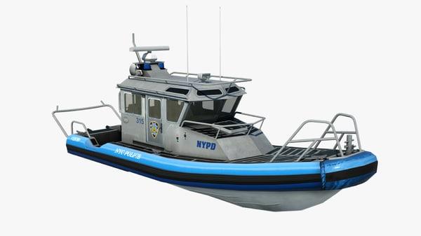 3d patrol police boat new york model