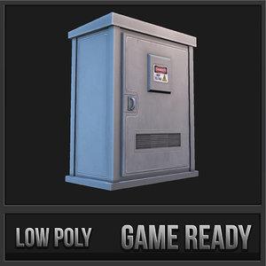 3d utility box 01 model