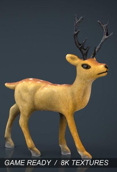 3d model christmas deer