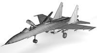 military sukhoi su-27 3d model
