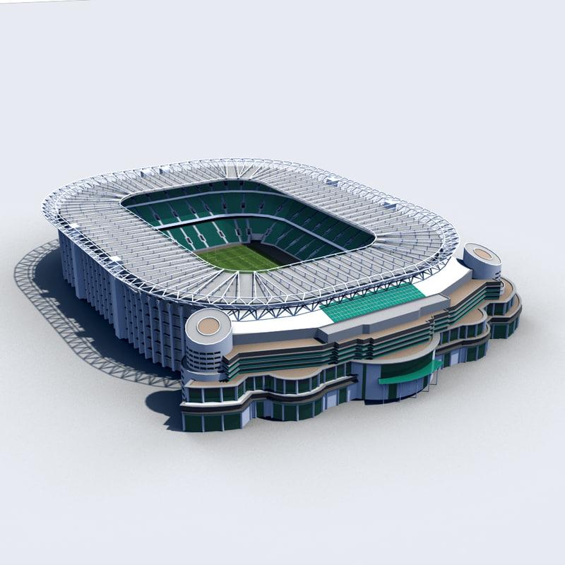 3d twickenham stadium