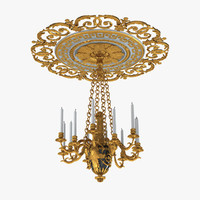 victorian candle chandelier 3d max