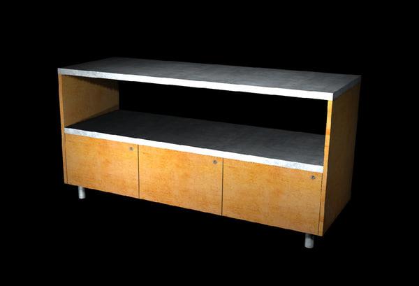 workbench storage cabinet 3d x