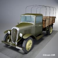 3d model citroen 23r cargo truck