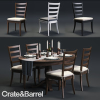 C&B Harper Chair and Avalon Table