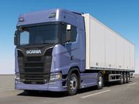 SCANIA S730 With Trailer