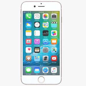 3d apple iphone 7 rose model