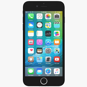 3d model apple iphone 7 black
