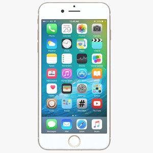 3d apple iphone 7 gold model