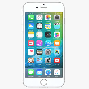 3d apple iphone 7 silver