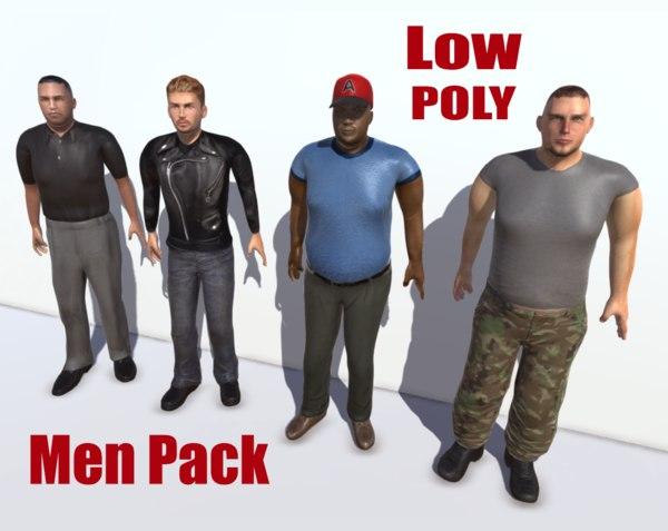 3d pack men