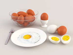 eggs bowl cup 3d ma