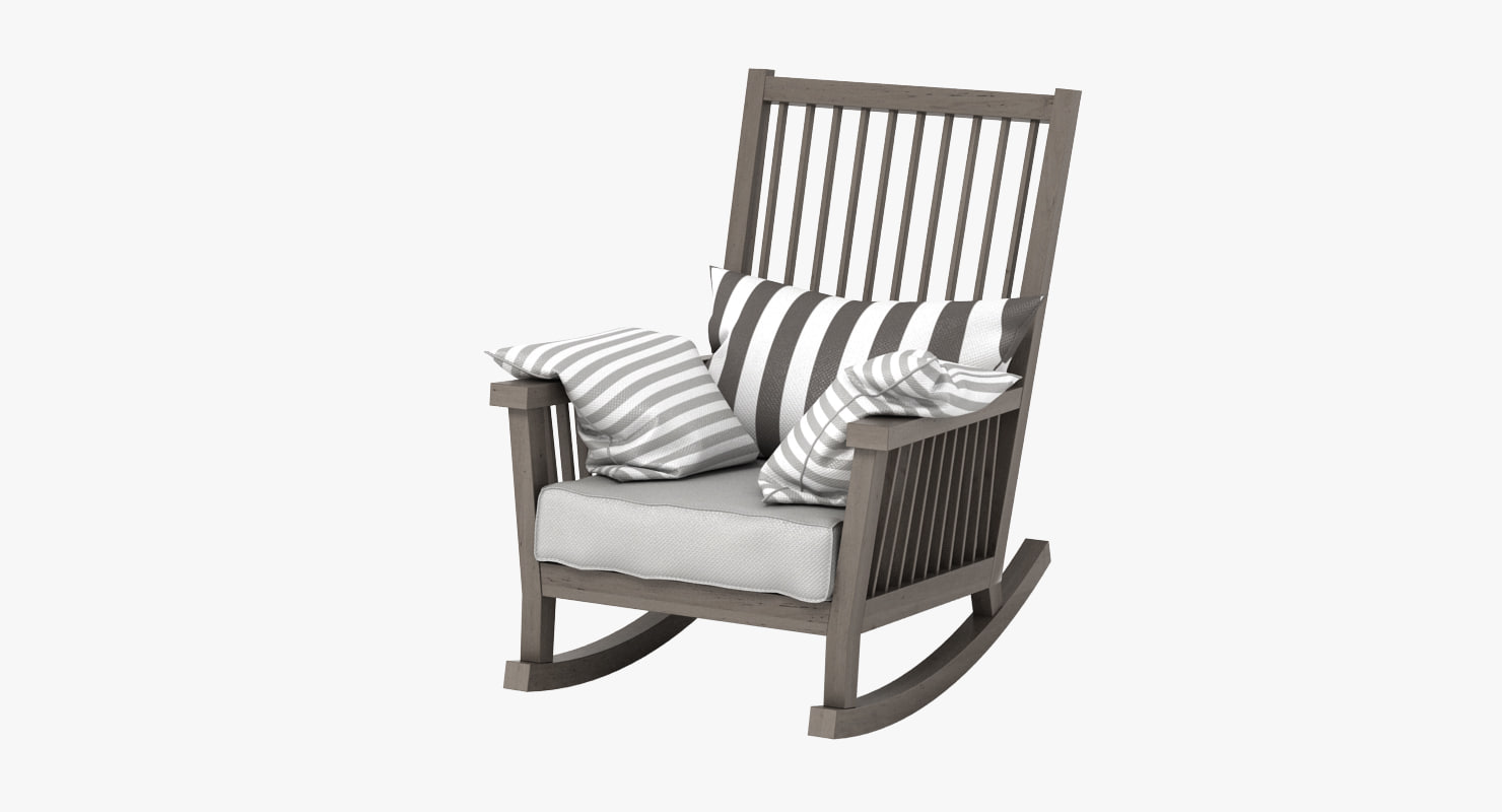 3d Gervasoni Gray Rocking Chair Model