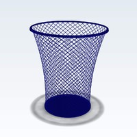 3d model wastebasket waste