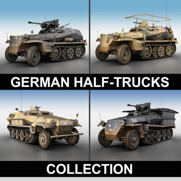 3d model german 250 half track