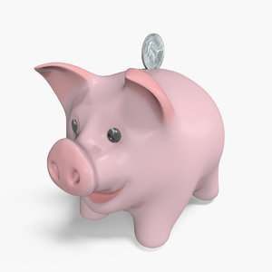 3d model of piggy bank pig