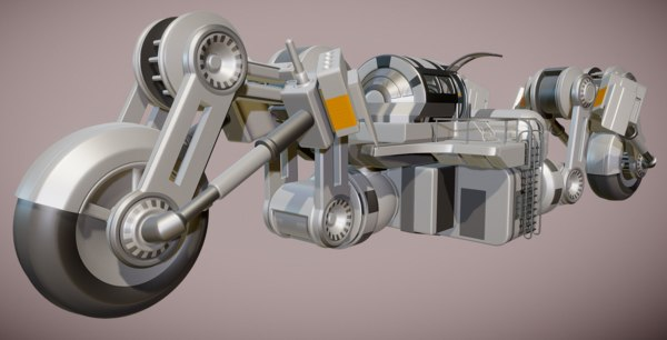 3d model of futuristic trike version 3