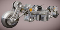 3d model of futuristic trike version 3