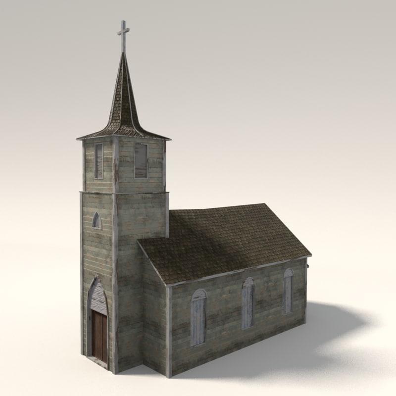 church ready 3d model