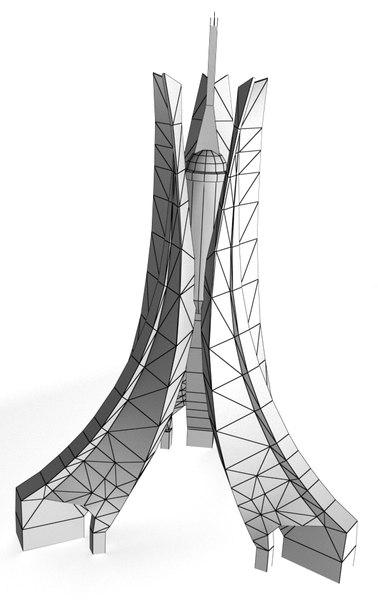algeria monument martyrs 3d model