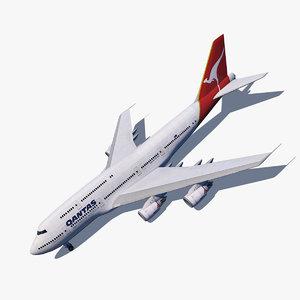3d model boeing 747-8i qantas