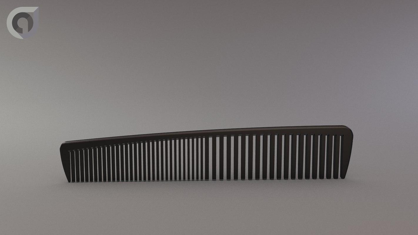 haircomb modeled rendering obj