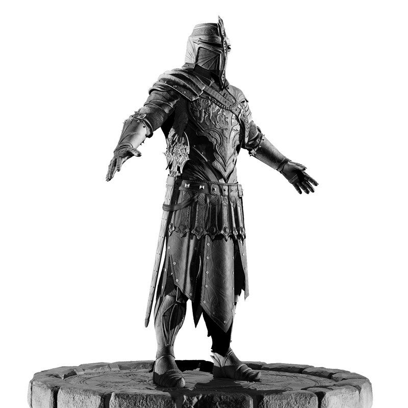 knight zbrush 3d 3ds