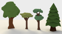 Low-Poly Tree Pack