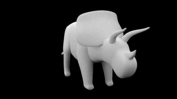 triceratops base mesh dinosaur 3ds free