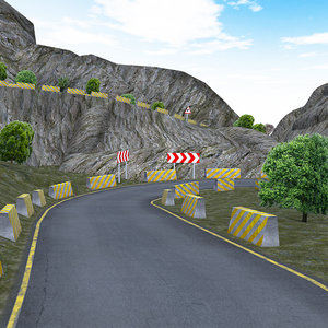 mountain pack road 3d model