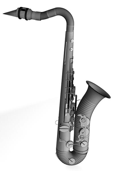3d model saxophone tenor