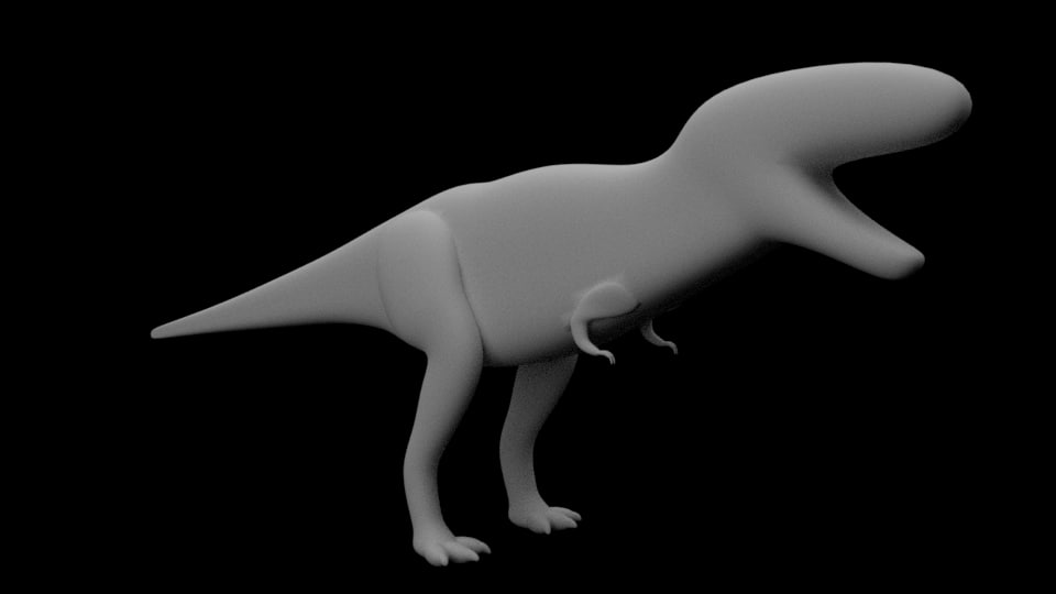 t-rex base mesh dinosaur 3ds free