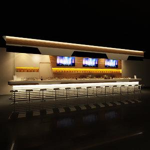 3d modern bar