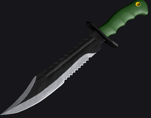 knife bowie marine 3d model