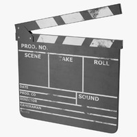 clapperboard clap board 3d model