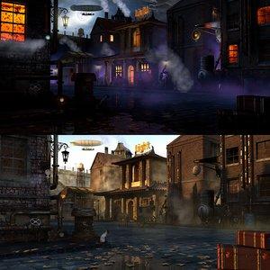 scenes steampunk 3d c4d