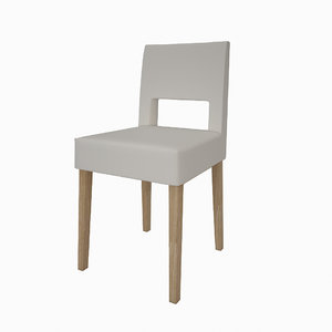 simply leather chair 3d obj