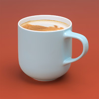 closeup coffee mug 3d model