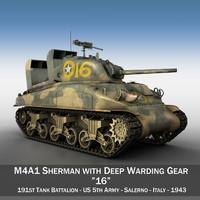 m4a1 sherman tank - fbx