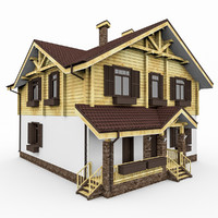 house chalet 3d model