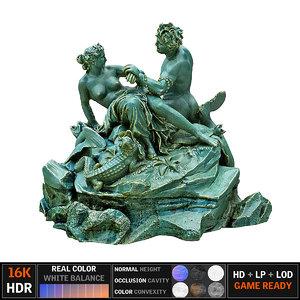 3d satyr statue model