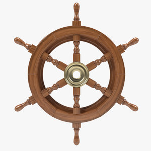 3d model ship s helm